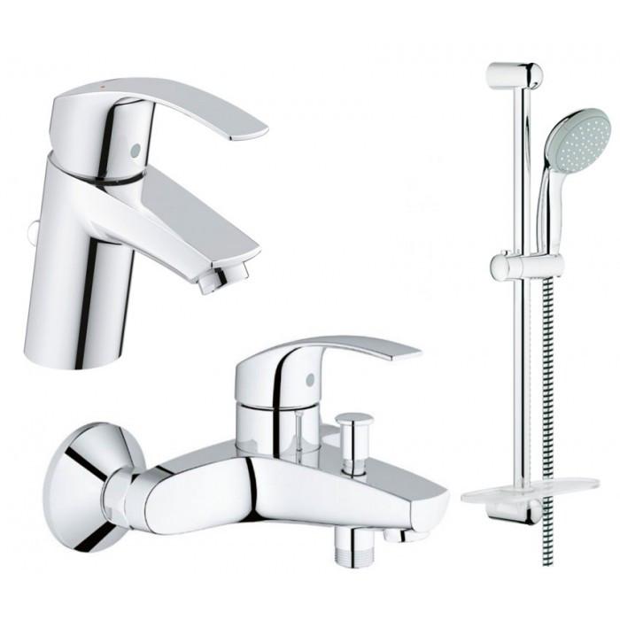 Набор смесителей для ванной GROHE Eurosmart 123238S (33265002 + 33300002 + 27926000)