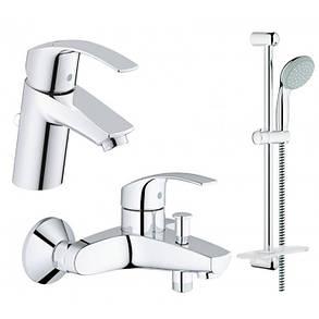 Набор смесителей для ванной GROHE Eurosmart 123238S (33265002 + 33300002 + 27926000), фото 2