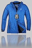 Женская зимняя горнолыжная куртка Volcom 7108 Синяя