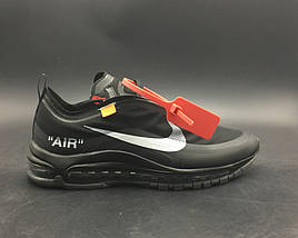 Кроссовки NIKE AIR MAX 97 OFF White Black, фото 3