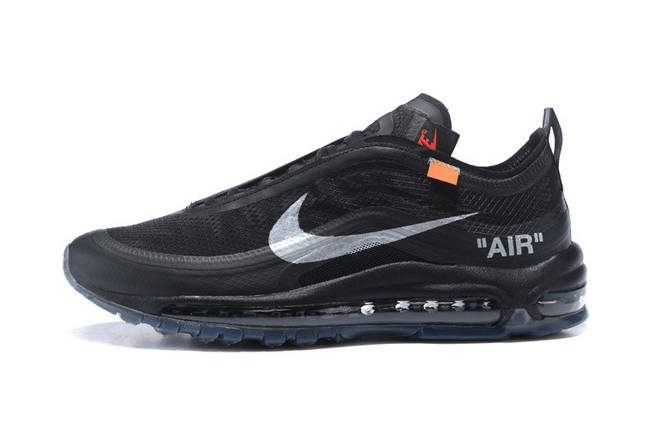 Кроссовки NIKE AIR MAX 97 OFF White Black, фото 2