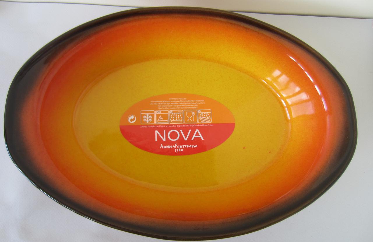 Форма овальная из жаропрочного фарфора 36 см Nova