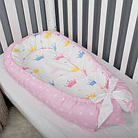Кокон гнездышко, бейбинест, кроватка для новорожденного, люлька, бортики мягкие в кровать детскую, фото 1