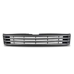 Решетка радиатора VW Passat B7 черная с хром полосками
