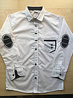 Рубашка белая для мальчика 8