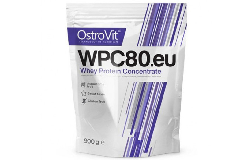 Протеїн OstroVit Standard WPC80 - 900g. (БЕЗ СМАКУ)