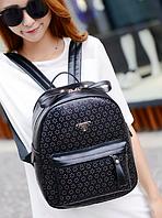Рюкзак женский городской кожзам PARIS MILANO Черный, фото 1