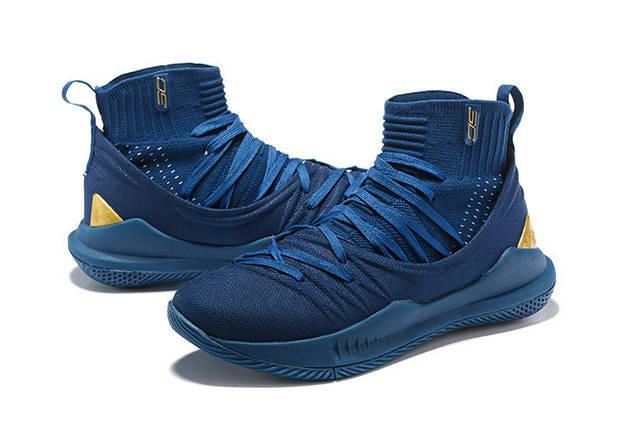 Мужские кроссовки Under Armour 3C CURRY 5 Navy Синие, фото 2