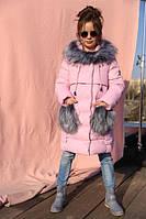 Зимнее пальто на девочку Полианна св.розовый