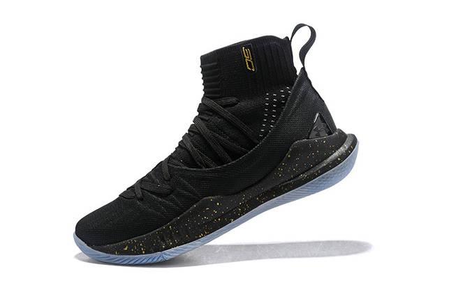 Мужские кроссовки Under Armour 3C CURRY 5 Black/Gold, фото 2