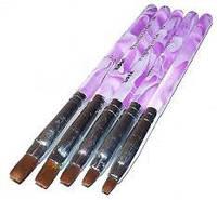 Набор кистей для наращивания гелем №1, №2, №3, №4, №5
