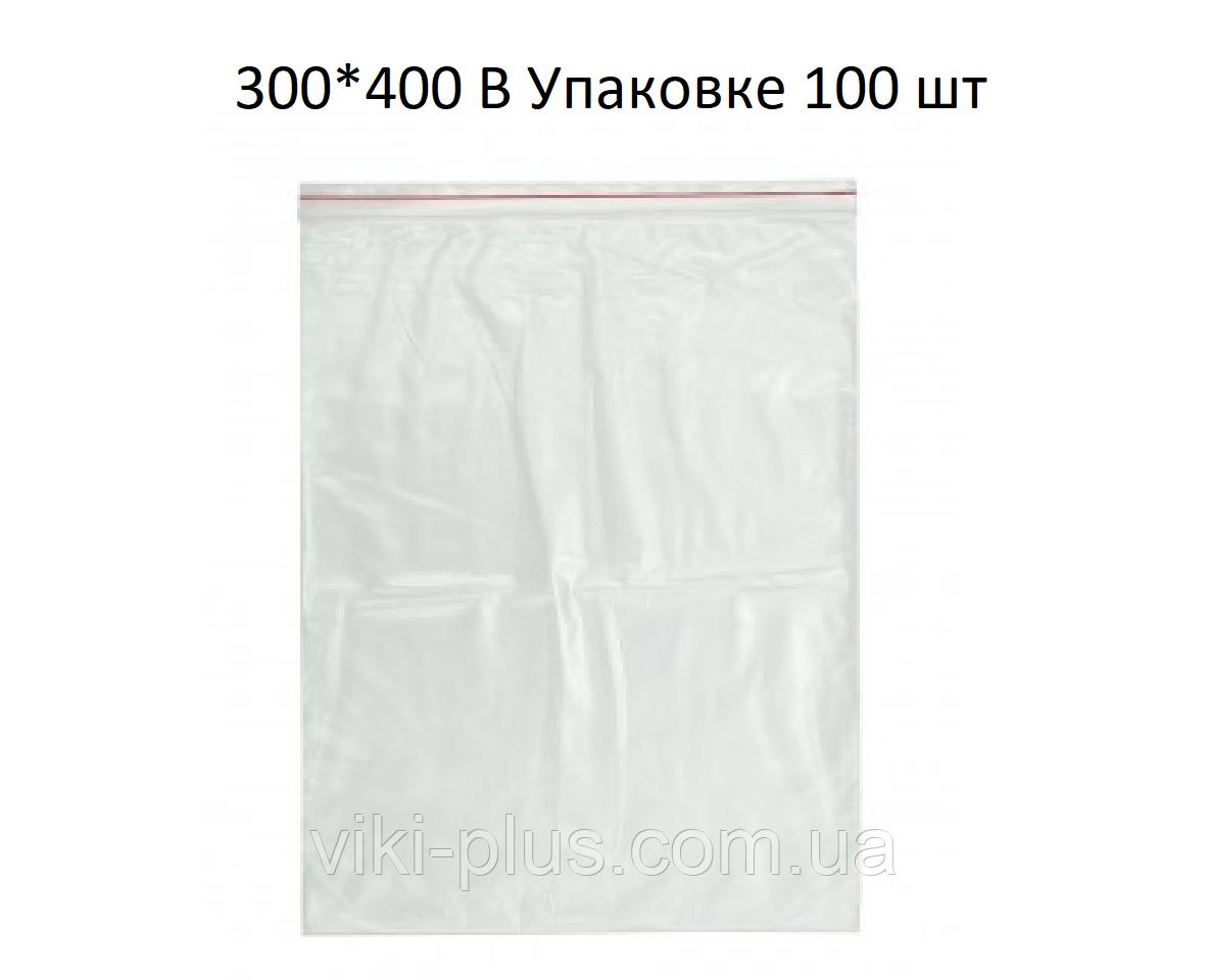 Пакет зі струнним замком ZIP-LOC 100шт 300*400