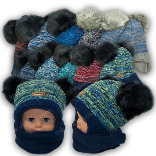 ОПТ Шапка и шарф для мальчика, р. 48-50 (5шт/набор)