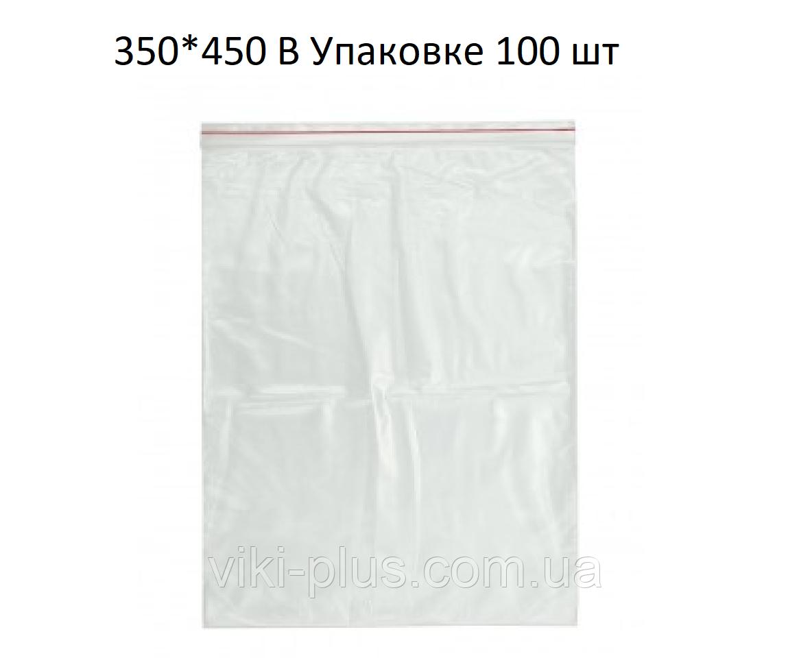 Пакет зі струнним замком ZIP-LOC 100шт 350*450