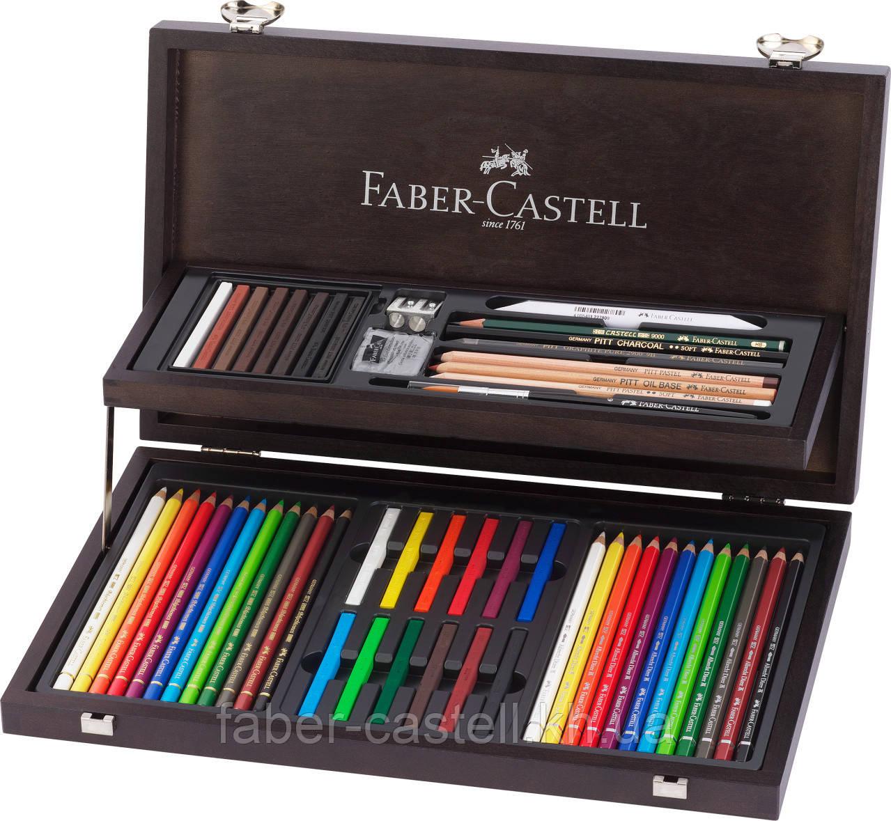 Подарочный набор карандашей  Faber-Castell ART & GRAFIC в деревянном пенале 54 предмета, 110088