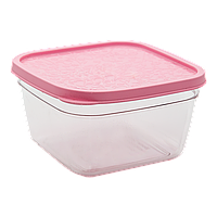 Контейнер пищевой 0,3 л прозрачно-розовый