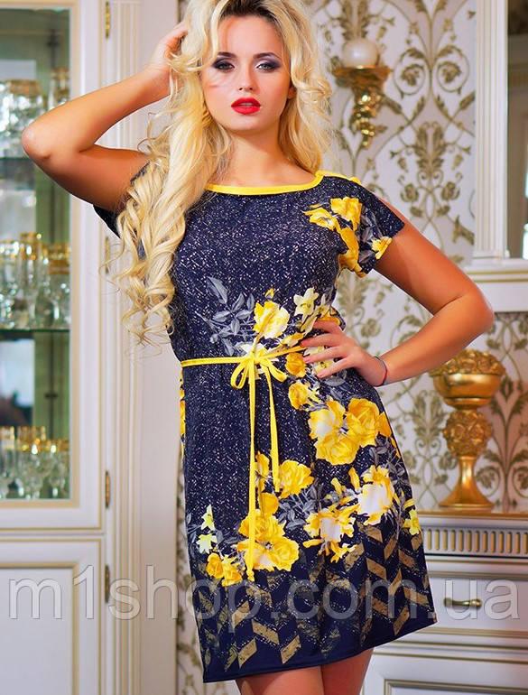 Летнее женское платье с орнаментом и цветами (0772-0774-0773-0880 svt)