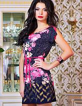Летнее женское платье с орнаментом и цветами (0772-0774-0773-0880 svt), фото 3