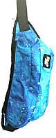 Поясная сумка бананка Nike Air из текстиля размером 42*15 см (голубой), фото 1