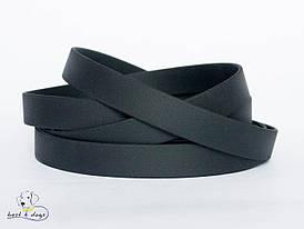 Ошейник из биотана, Черный, 19мм(метал.фастекс)