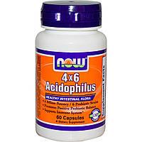 Пробиотики, Acidophilus, Now Foods, 60 капсул