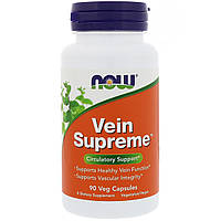 Поддержка для вен, Vein Supreme, Now Foods, 90 капсул, фото 1