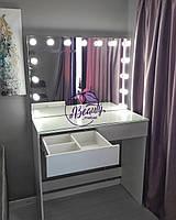 Стол для макияжа с зеркалом без рамок, рабочее место визажиста