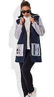 Модная куртка женская из джинса на синтепоне размеры от XL 5063