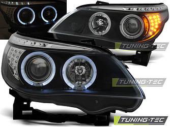 Передние фары тюнинг оптика BMW E60 (03-07) черные