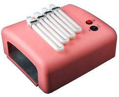 УФ лампа лампы для маникюра Beauty Nail lamp SK 818, 36W розовая