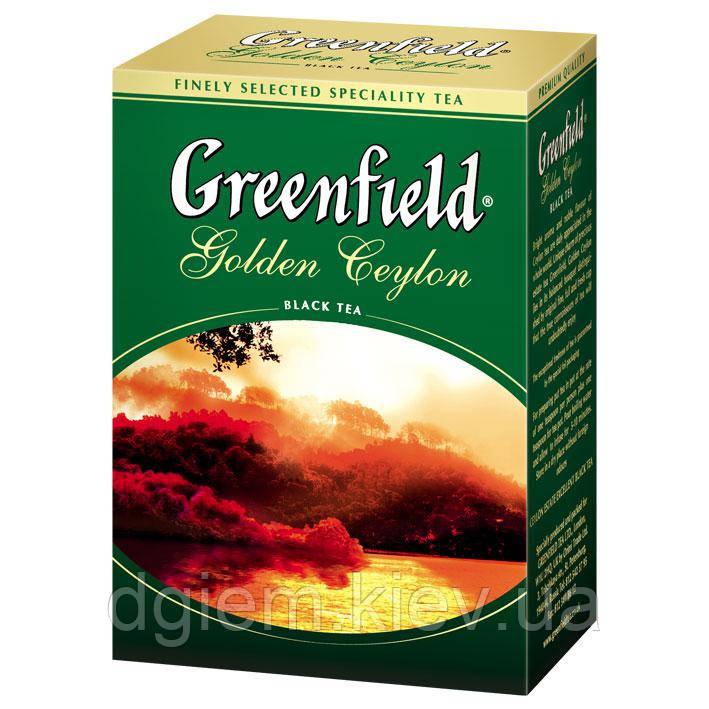 "Чай чорний GOLDEN CEYLON 100г ""Greenfield"", лист"