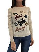 Женский шерстяной свитер с надписями, Турция