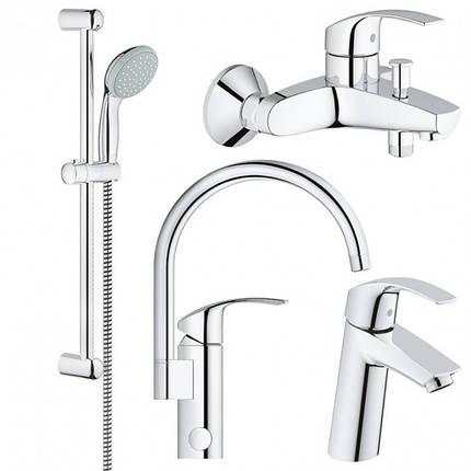 Набор смесителей для ванной GROHE Eurosmart 123248МK, фото 2