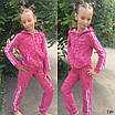 Спорт костюм на девочку на змейке бабочки трикотаж 128,134,140, фото 2