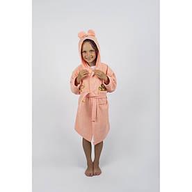 Халат детский Lotus - Винни Пух 3-4 года персик