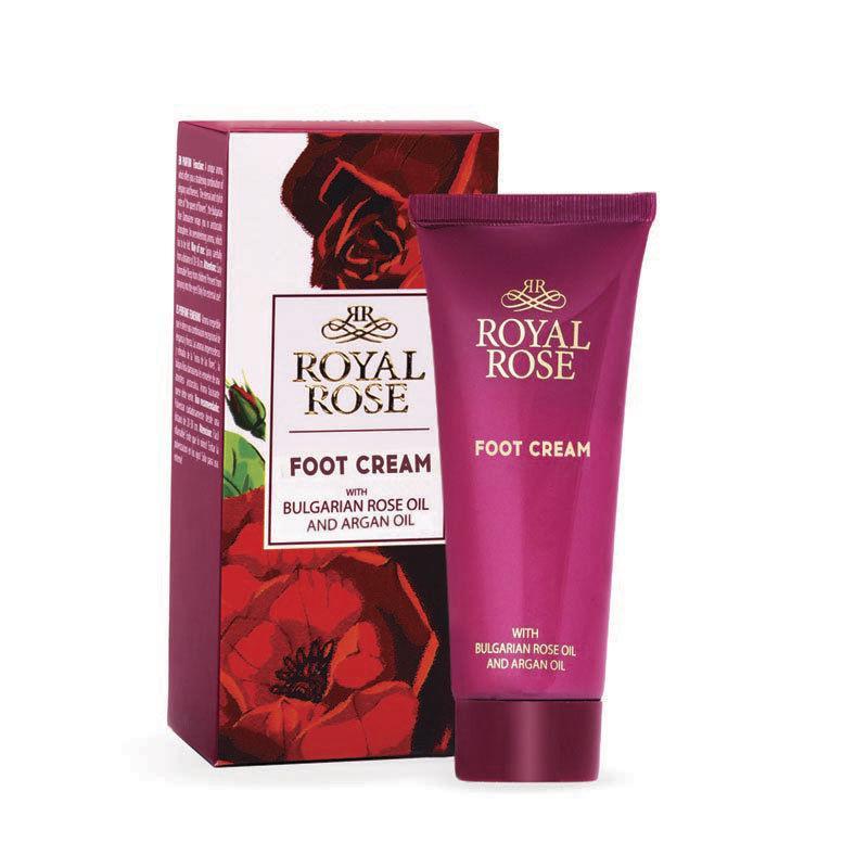 Крем для ног с маслом розы и аргана Royal Rose от BioFresh 75 мл