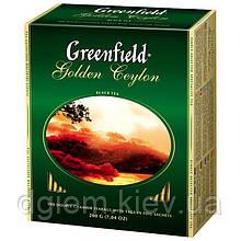 "Чай чорний GOLDEN CEYLON 2гх100шт. ""Greenfield"" , пакет"
