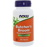 Иглица колючая, Butcher's Broom, Now Foods, 100 капсул, фото 1