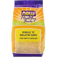 "Пустые капсулы ""0"", Single ""0"" Gelatin Caps, Now Foods, 1000 капсул"