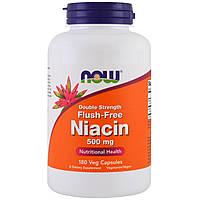 Витамин В3, Now Foods, Ниацин, 500 мг, 180 капсул