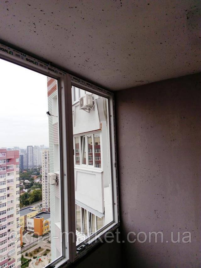 Установка лоджии WDS в Киеве, фотоработы бригады №1