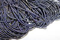 Резинка круглая, шляпная 2.5мм, (50м) синий+золото