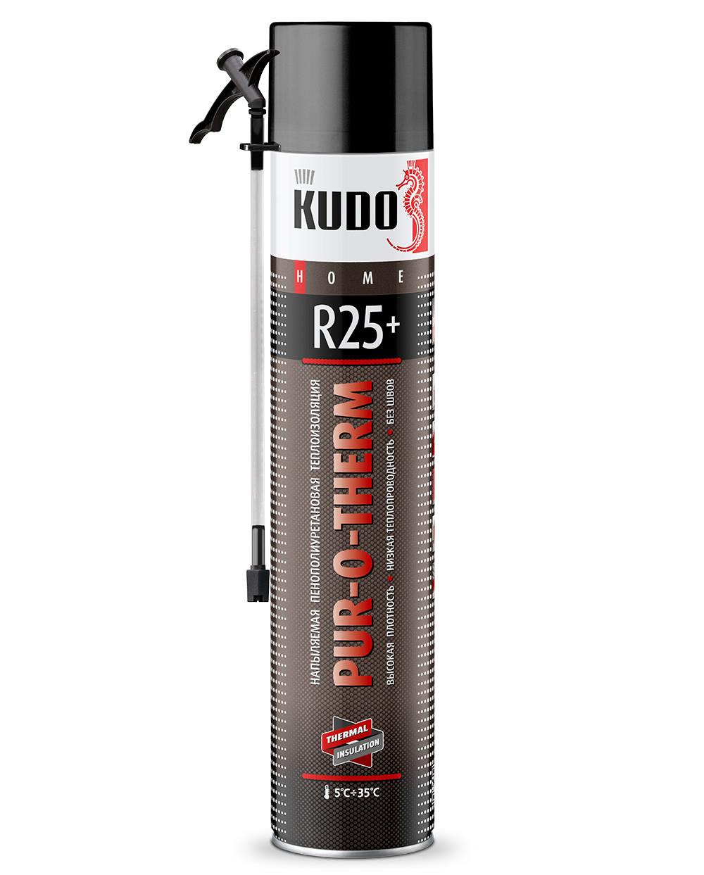 Утеплитель в баллоне  KUDO (Кудо) PUR-O-THERM R25+ 1000мл. Повышенная плотность. Купить в Киеве