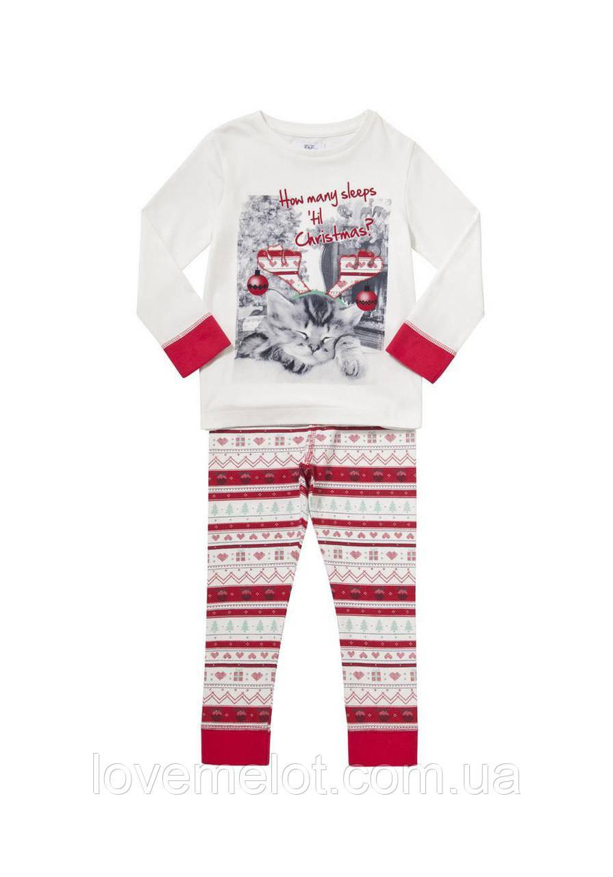 """Детская пижама F&F """"Веселого Рождества"""", размер 92 см"""