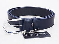 Мужской кожаный синий ремень Pierre Cardin , фото 1