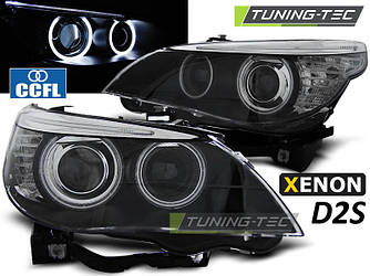 Передние фары тюнинг оптика BMW E60 xenon D2S (03-04)