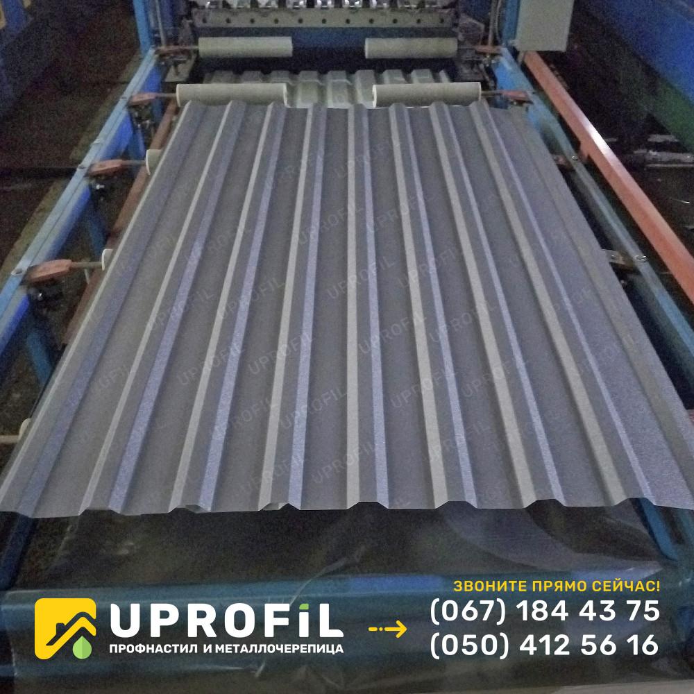 Профнастил для крыши ПК 20 Графитовый матовый RAL 7024 0.45 мм.