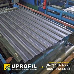 Профнастил для крыши ПК 20 Графитовый матовый RAL 7024 0.45 мм., фото 2