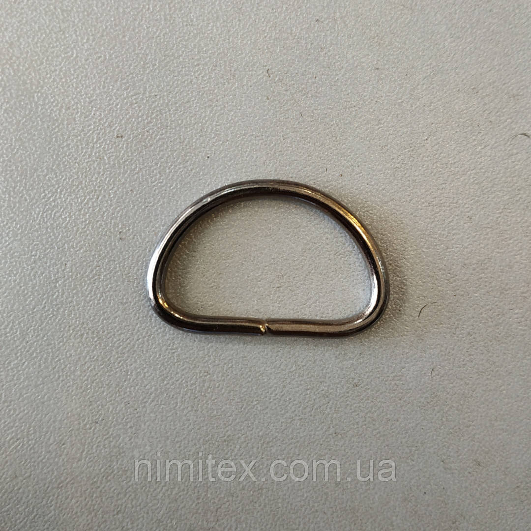 Полукольцо проволочное 26 мм черный никель