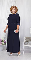 Платье Ninele-2161/1 белорусский трикотаж, темно-синий, 54